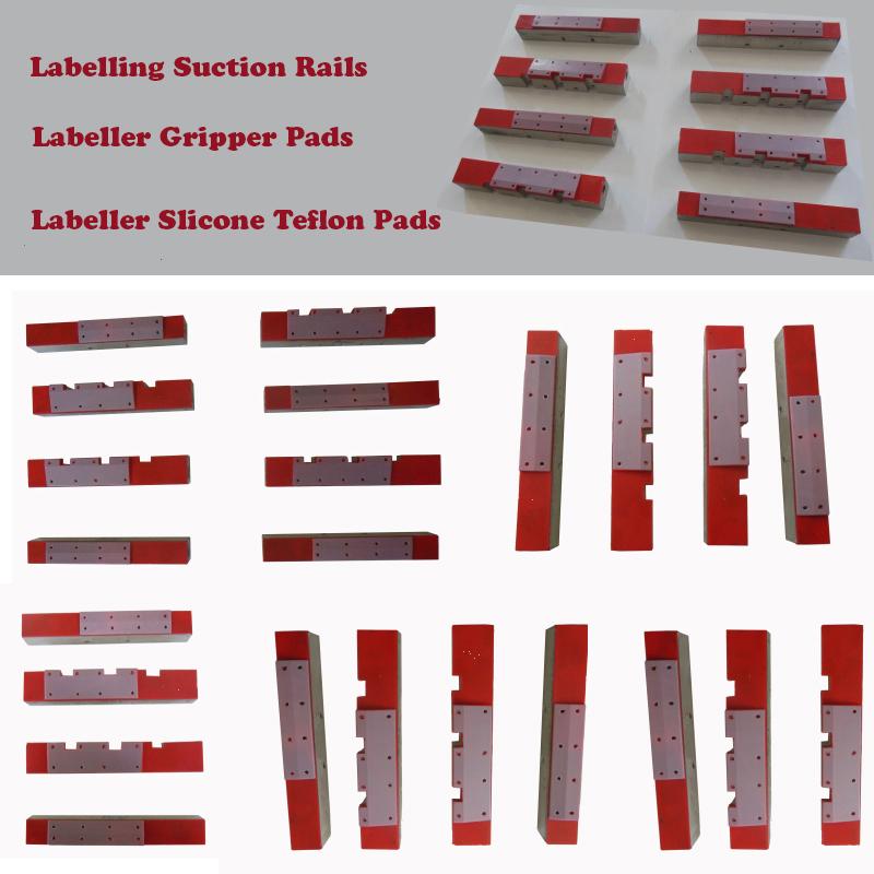 Labeller vacuum pads of vacuum drum, Labelling silicon coating labelling gripper vacuum pads, vacuum rotary drum suction block silicon coating label absorb vacuum drum bar pads